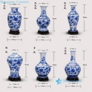 RZNJ00 03 Cheap factory price corn flower pattern good quality resident decoration porcelain vase