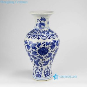 RZNJ01 Cheap wholesale price Jingdezhen factory made lotus pattern ceramic flower vase