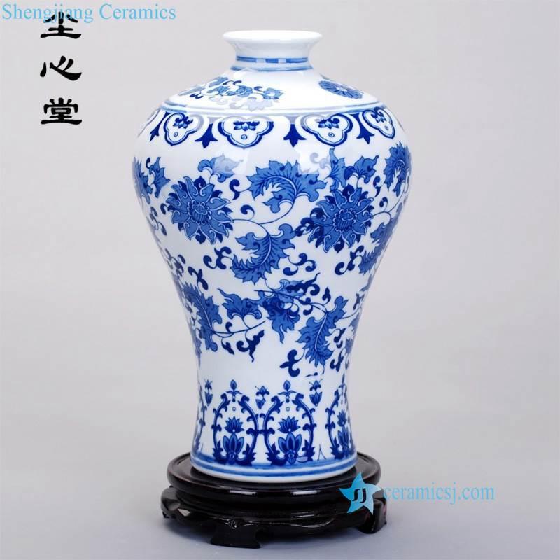 RZNJ00 03 Cheap factory price corn flower pattern good quality resident decoration porcelain vase