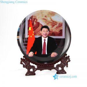 pukoo-003-A China leader Mr XI profile home docor display ceramic plate