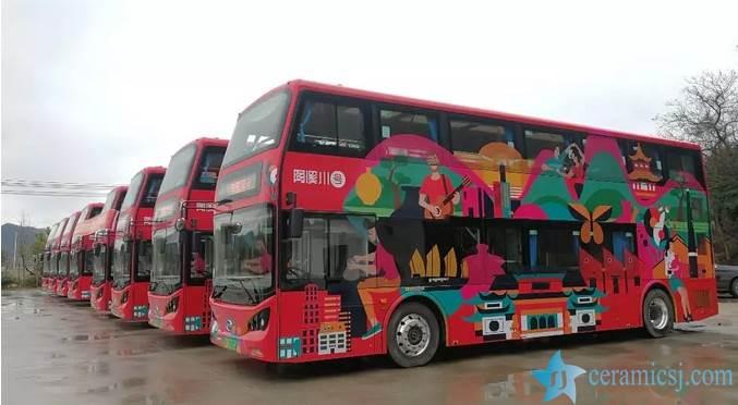 Double-decker Bus Runs in Jingdezhen