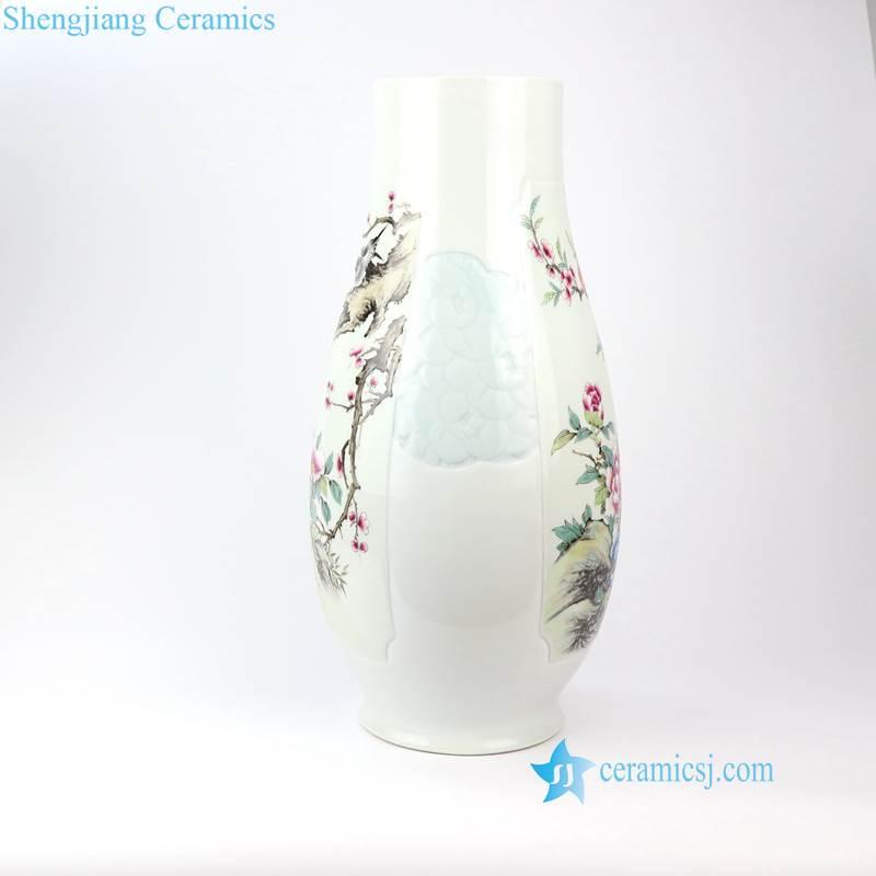 hand made bird floral vase