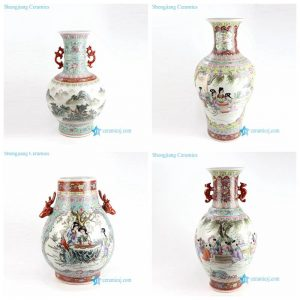 RZAI05-6 11 19 Antient Aisan style mountain kid lady porcelain vase