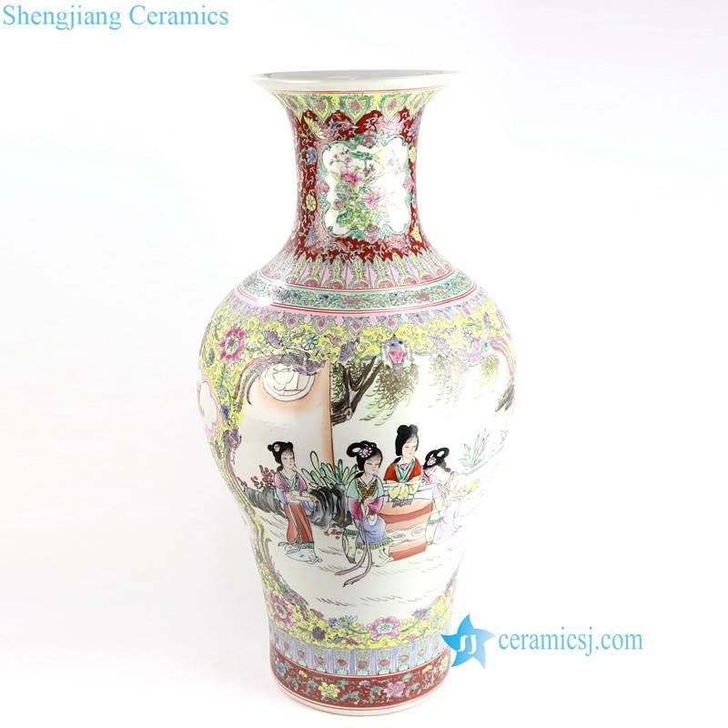 lady porcelain vase