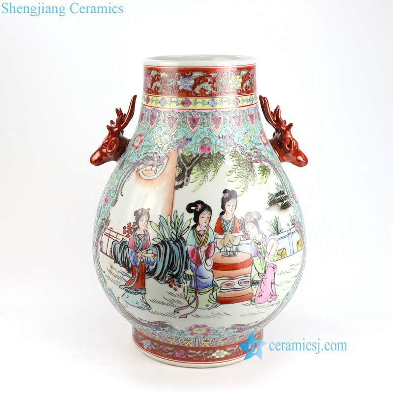 a dream in red mansions lady pattern vase