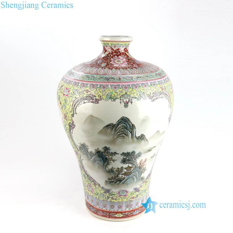 landscape china vase