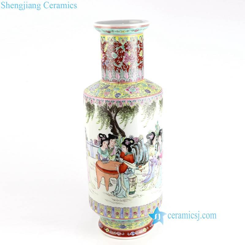 lady ceramic vase