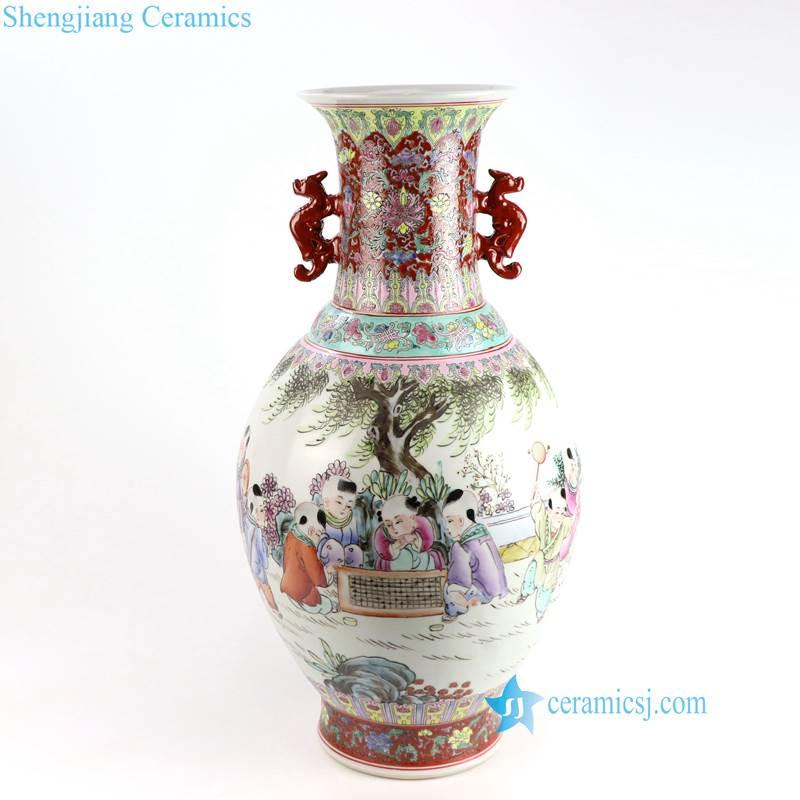 kids famille rose porcelain vase