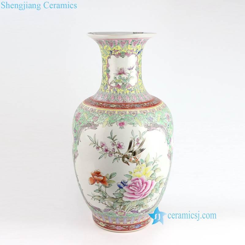bird floral vase