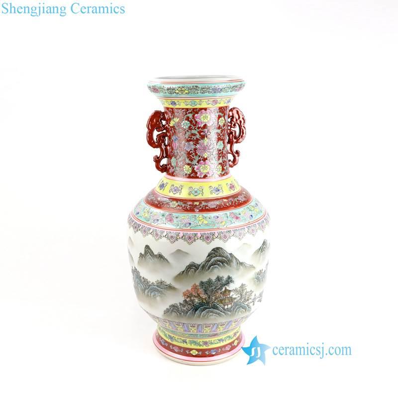mountain ceramic vase