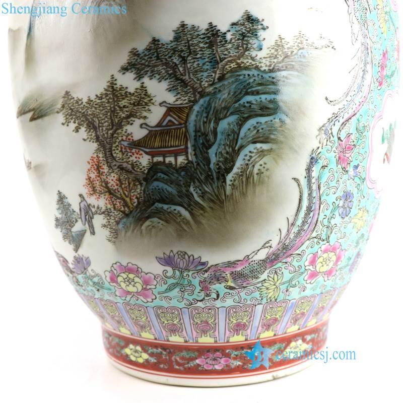 mountain porcelain vase
