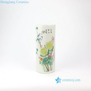 RZIH11 Hand painted Asian bird floral ceramic vase