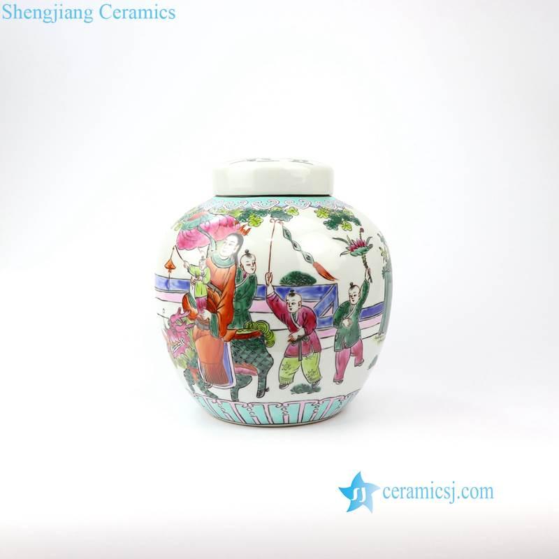 kid porcelain jar