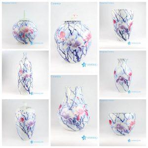 RZNP05-15 Yulan magnolia violet color ceramic vases