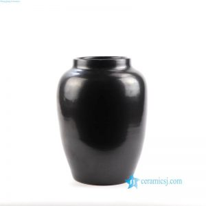 RZNS01 Matt black surface Shengjiang Ceramic customization ceramic vase