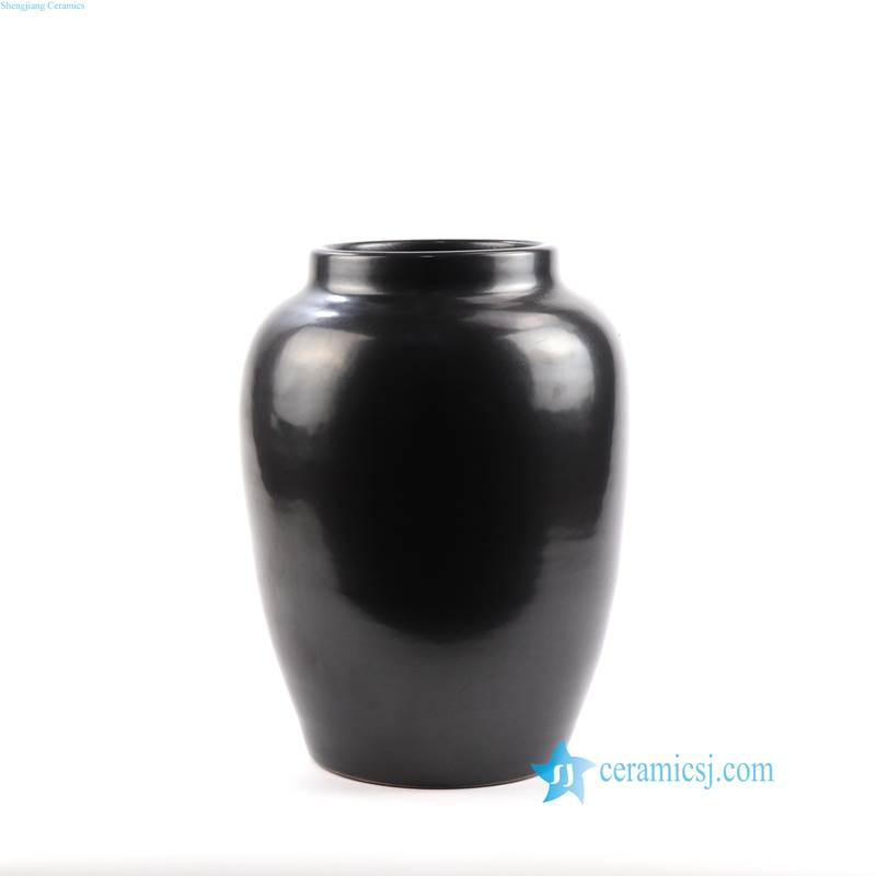 RZNS01 Matt black surface Shengjiang Ceramic customization ceramic vase
