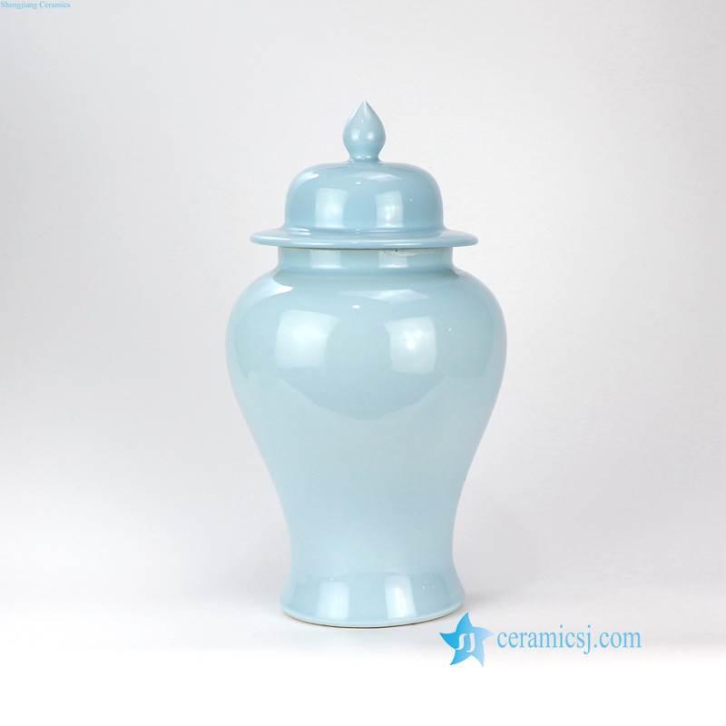 cerulean porcelain jar