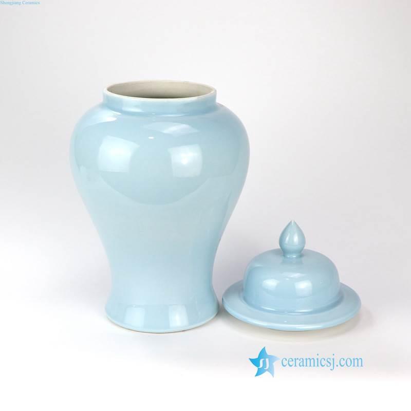 RZNS02 Jingdezhen China cerulean porcelain jar