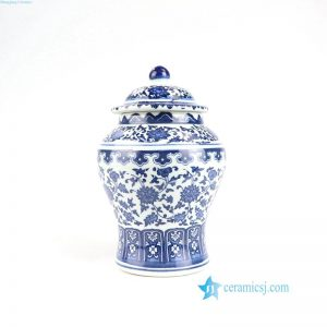 RZNV01 Asia blue and white flower porcelain jar