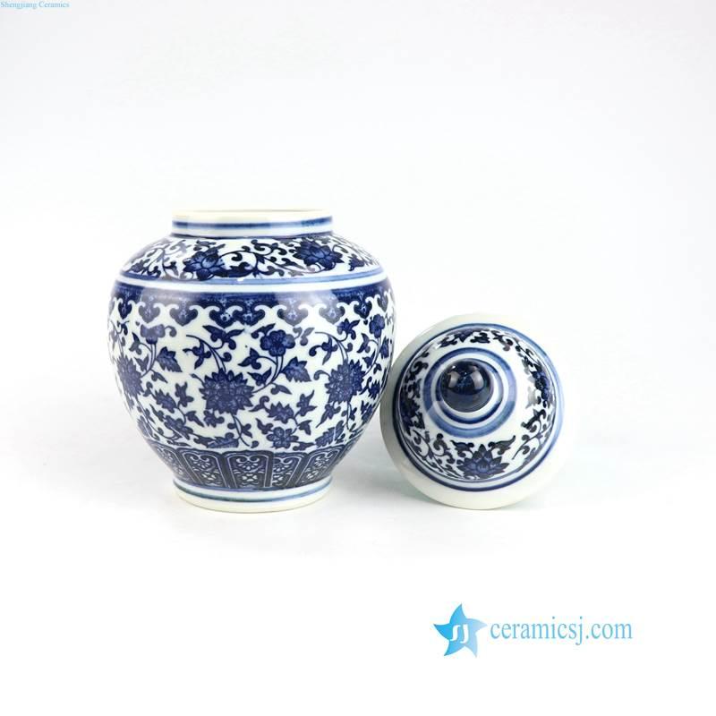 blue and white mini jar ceramic