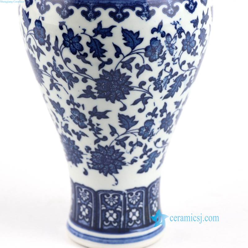 cheap blue and white porcelain vase