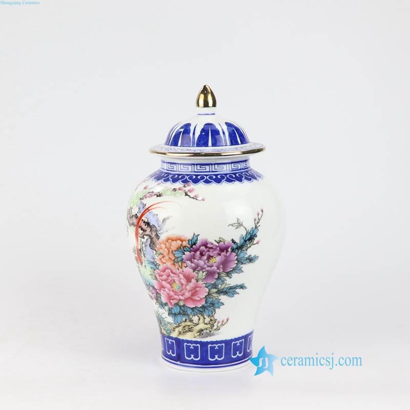 bird floral China vase porcelain