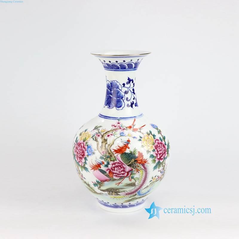 couple bird porcelain vase for weding