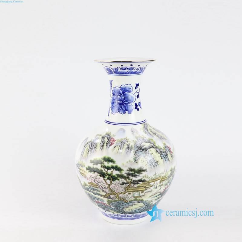 pine ceramic vase