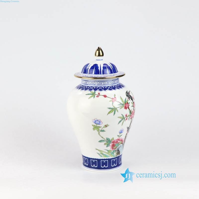 brid floral Jingdezhen jar