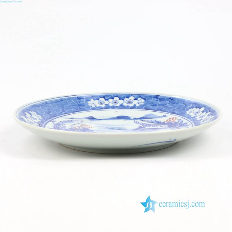 landscape exhibition ceramic plate
