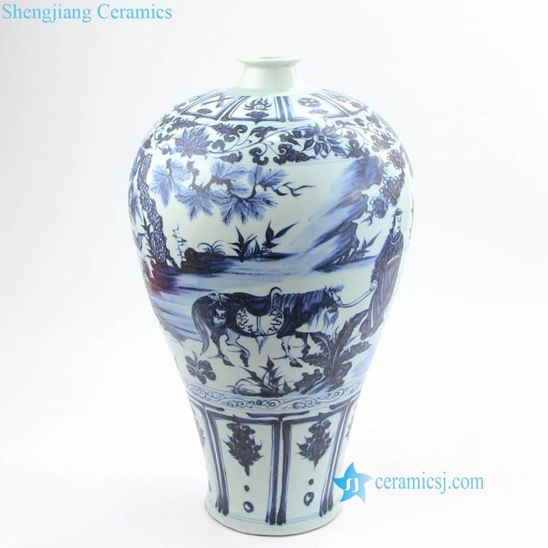 xiaohe chasing hanxin under moonlight porcelian vase