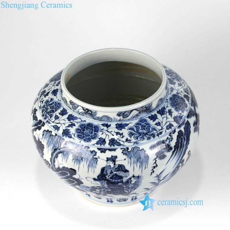 Guiguzi down the mountain porcelain vase