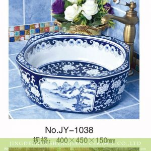 SJJY-1038-12 China landscape octagonal ceramic sink
