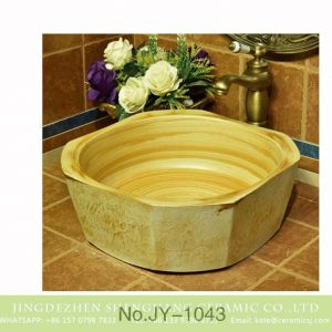 SJJY-1043-12 Kitchen mud clay style raw ceramic basin