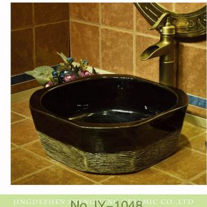 SJJY-1048-12 Outdoor glossy burnt sugar color ceramic sink