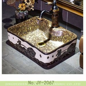 SJJY-1067-9 The hand carved warring states period the carriage pattern luxury hotel porcelain sink