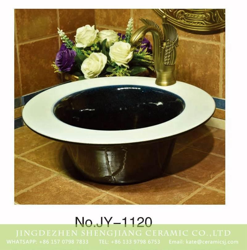 wide rim ceramic counter top basin