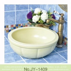 SJJY-1409 11 31 38 Macaroon color plain ceramic sink bowl for cabinet