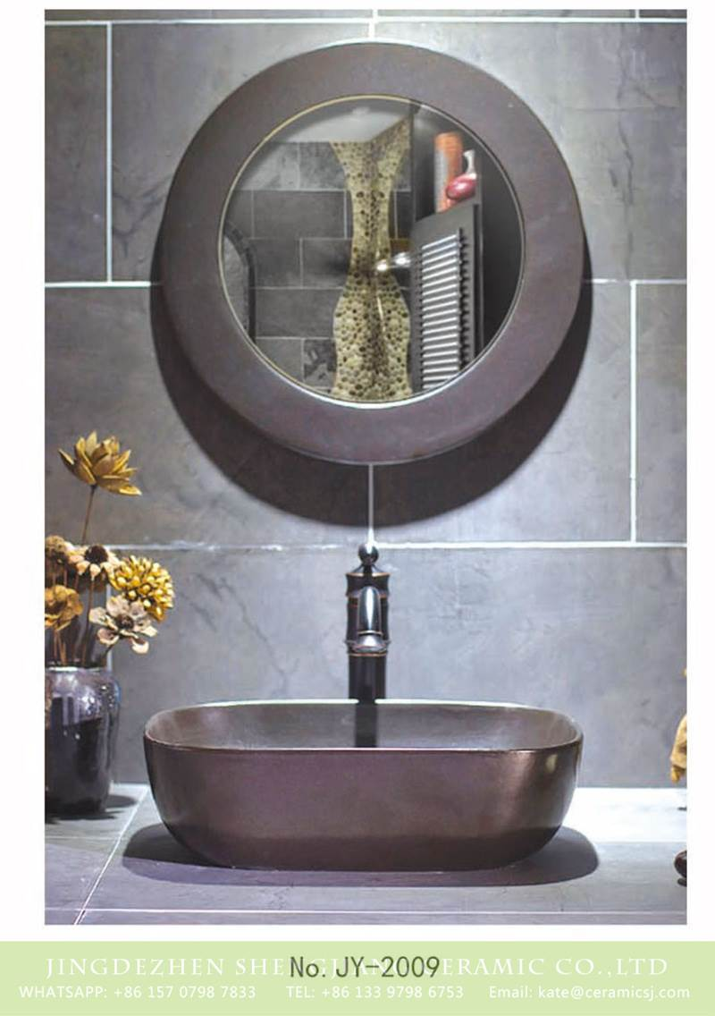 metal rectangular ceramic sink