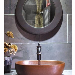 SJJY-2014-4 Matt surface rectangular brown ceramic basin