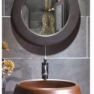 SJJY-2015-4 Toilet wash hand usage round brown ceramic basin