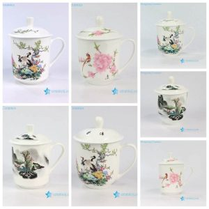 ZPK888 9-ABC China style bird flower landscape ceramic office cup