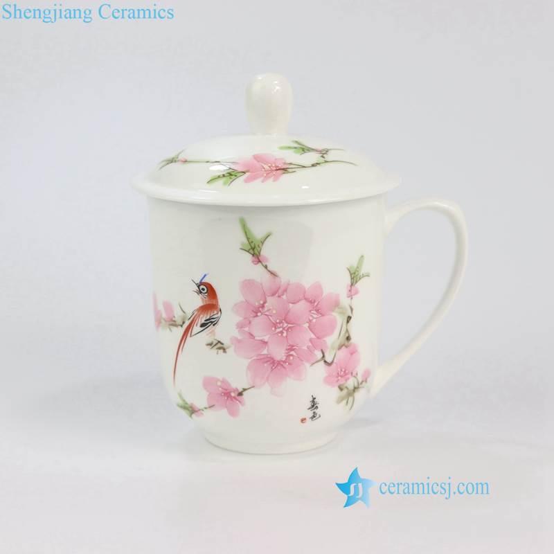 ZPK888 9-ABC China style bird flower landscape ceramic office cup