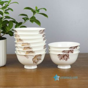 ZPK91-A Fine bone china material floral design home ceramic bowl