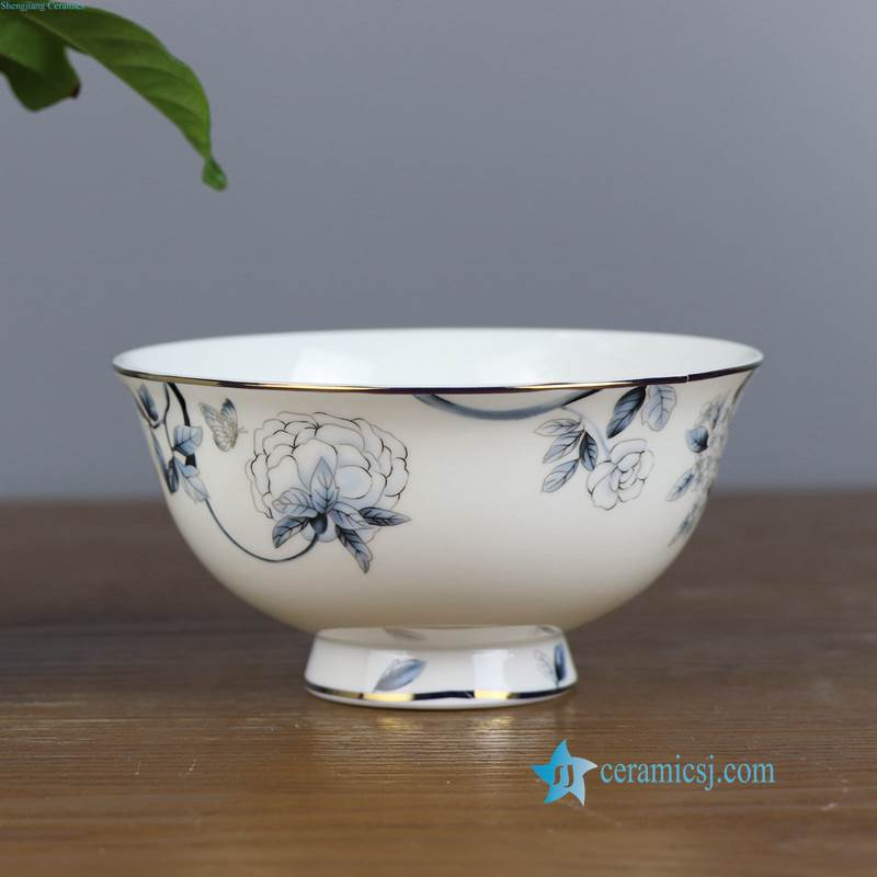 ZPK91-C Floral pattern ceramic rice bowl from China