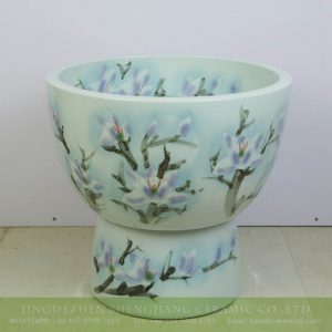 sjbyl-6321    Purple magnolia flower pattern ceramic urine pool