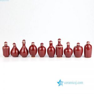 2L02 Mini size oxblood porcelain snuffle bottle