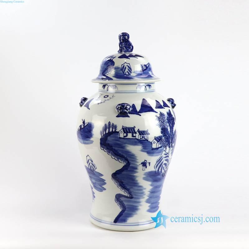 landscape porcelain jar