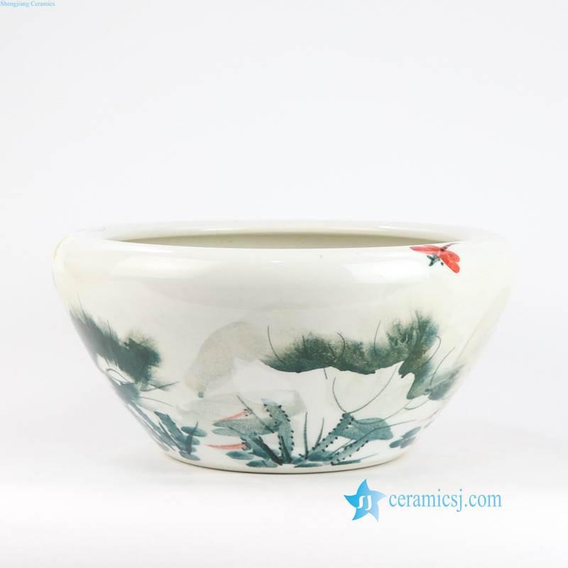 Lotus ceramic water pot