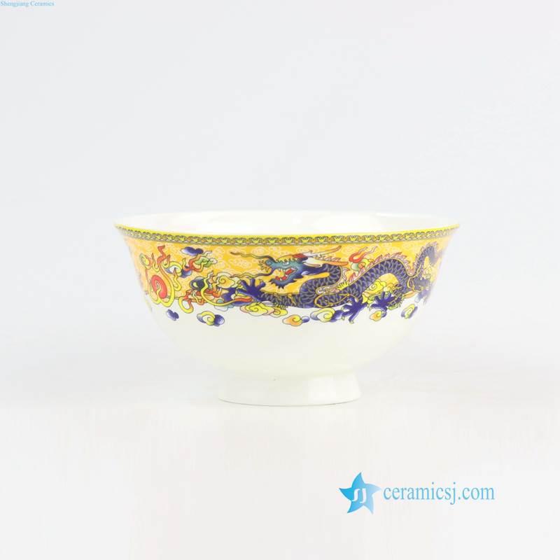 RZHF06-A Bone china made dragon pattern porcelain dinner ware set